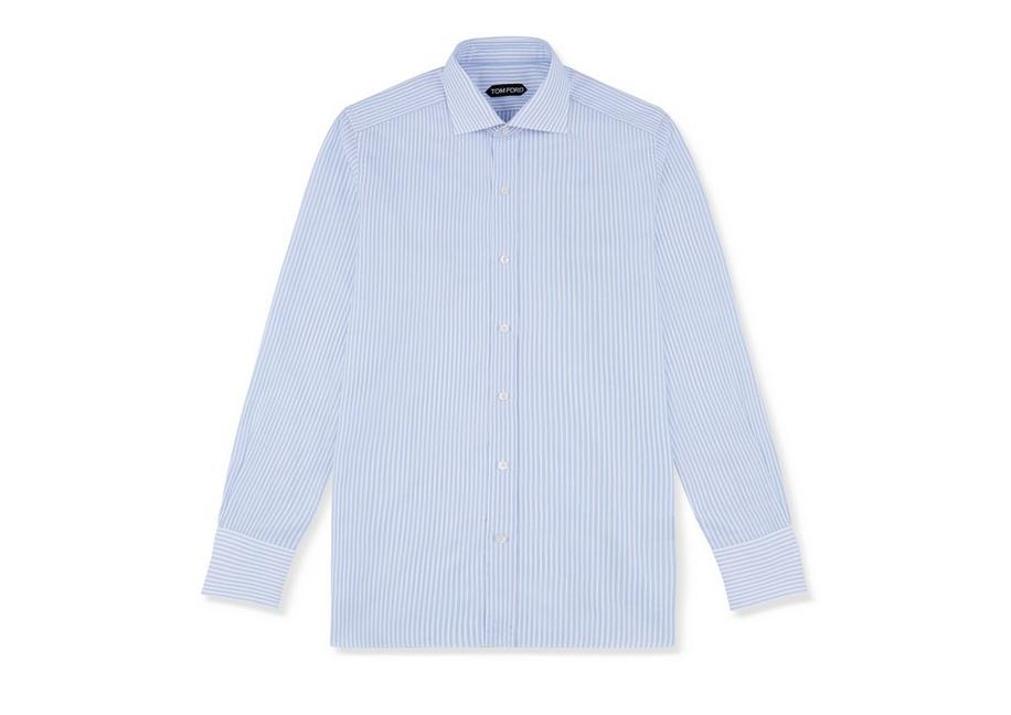 BLUE STRIPE SLIM FIT SHIRT A fullsize