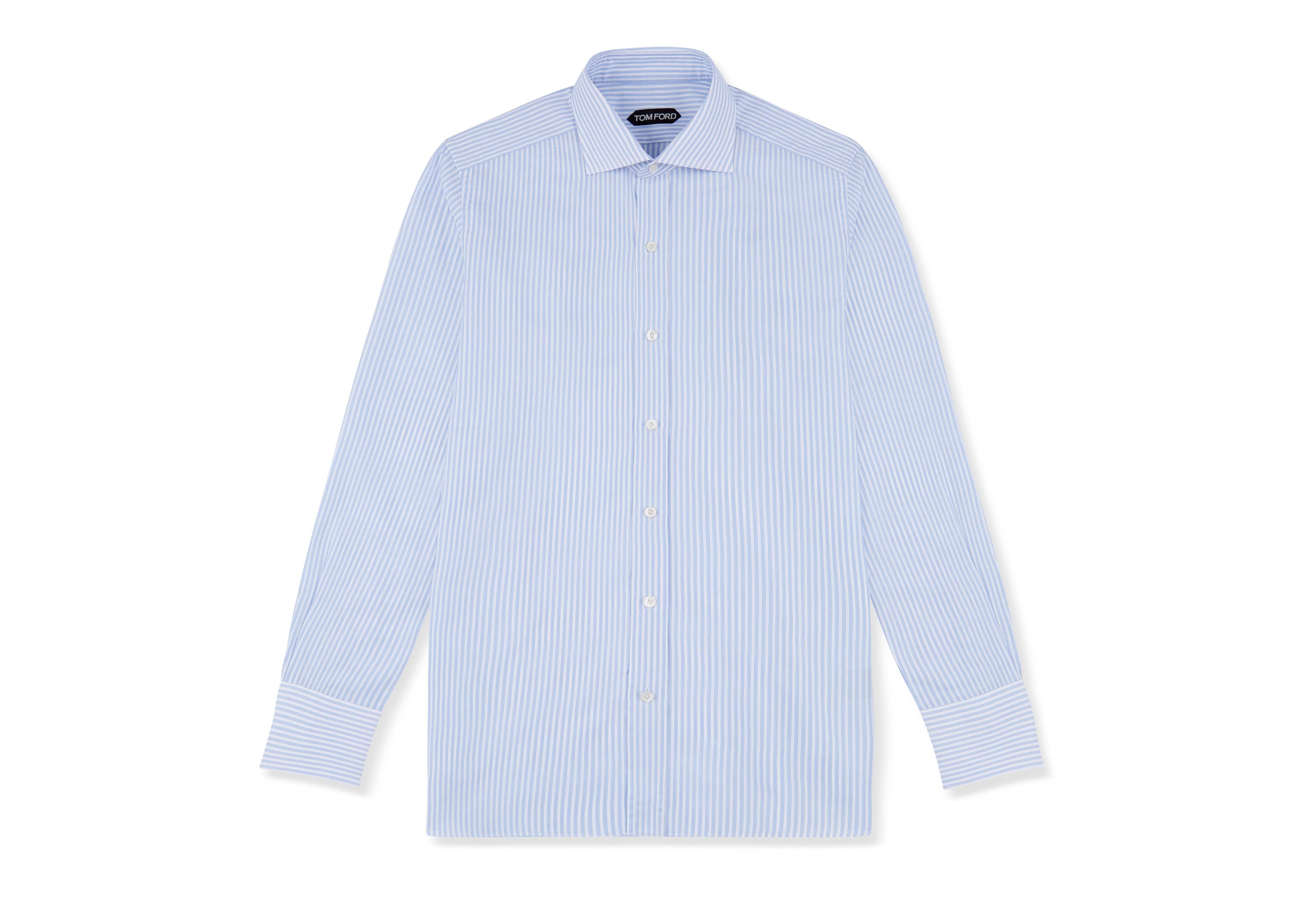 BLUE STRIPE SLIM FIT SHIRT A thumbnail