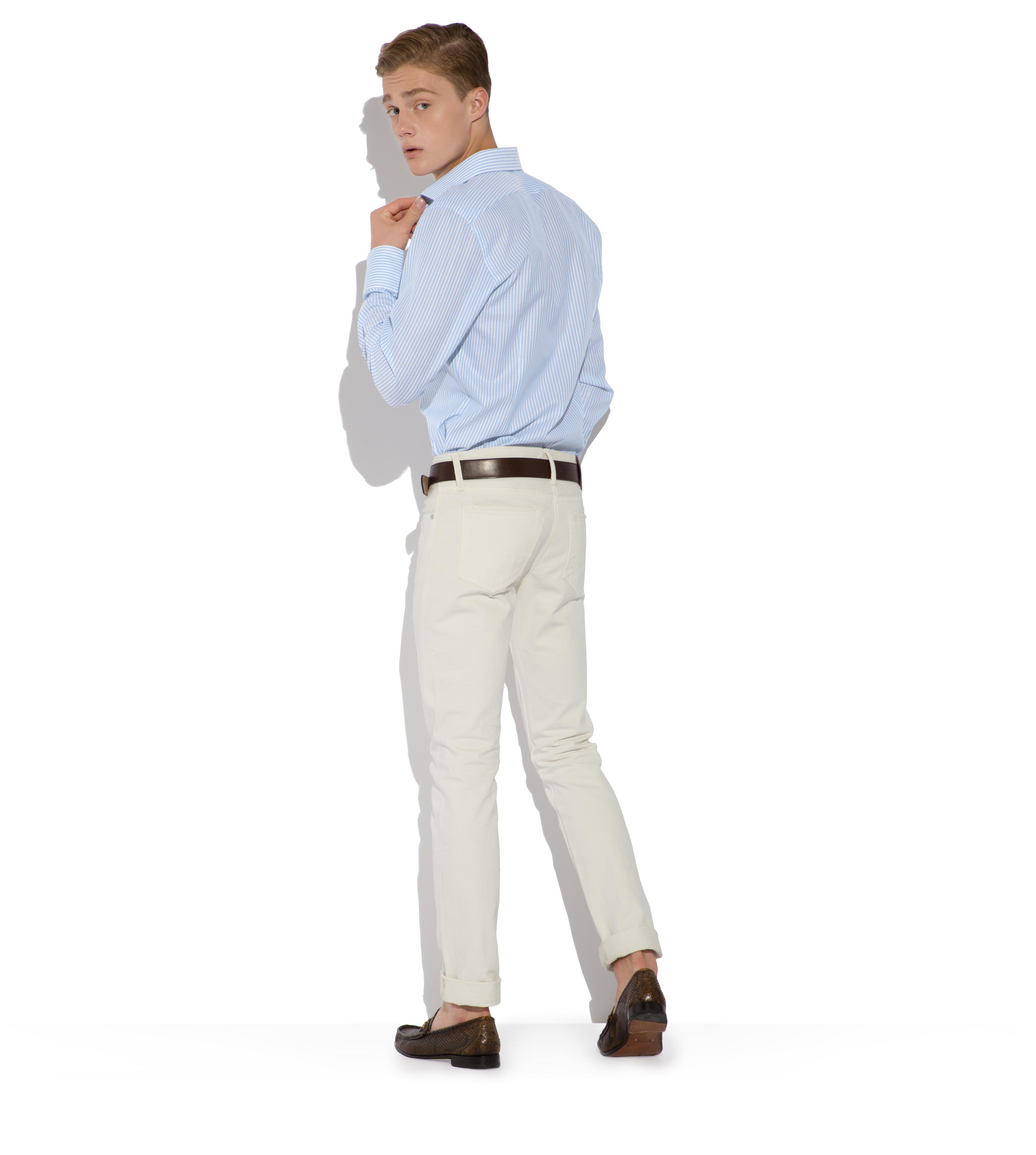 BLUE STRIPE SLIM FIT SHIRT C thumbnail
