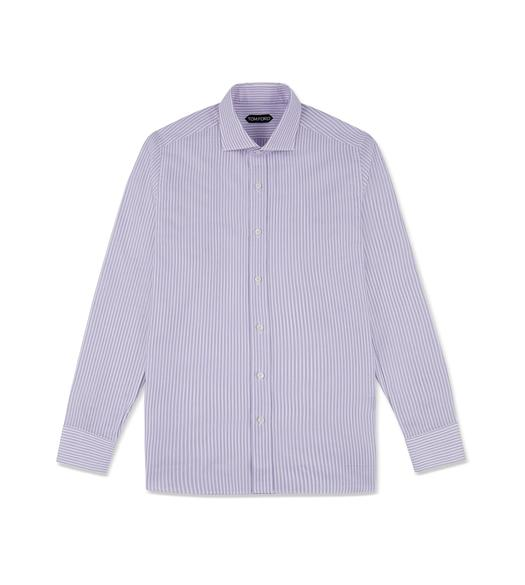 LILAC STRIPE SLIM FIT SHIRT