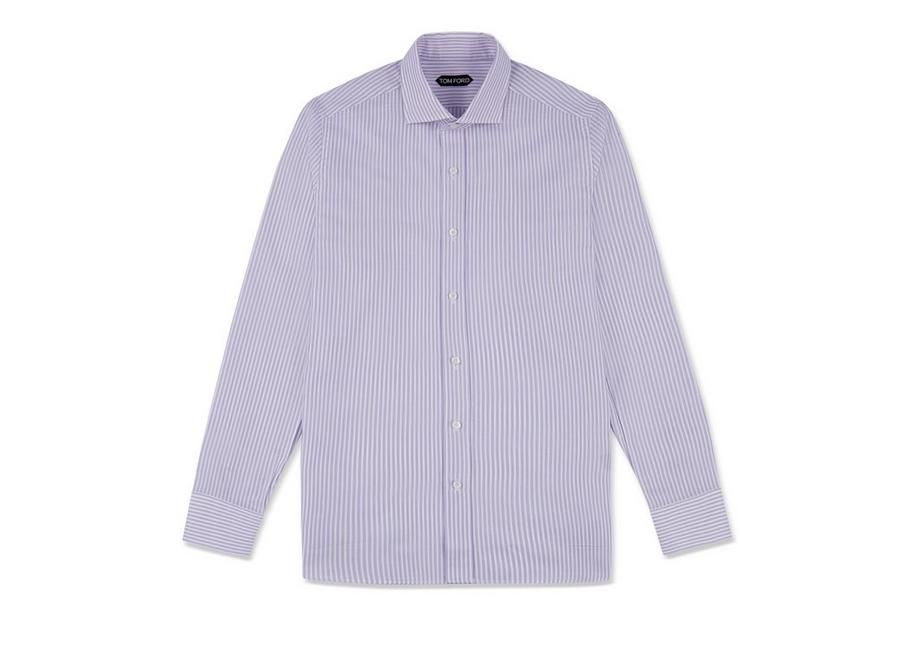 LILAC STRIPE SLIM FIT SHIRT A fullsize