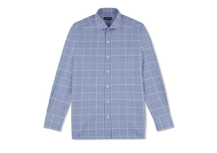 BLUE CHECK SLIM FIT SHIRT A fullsize