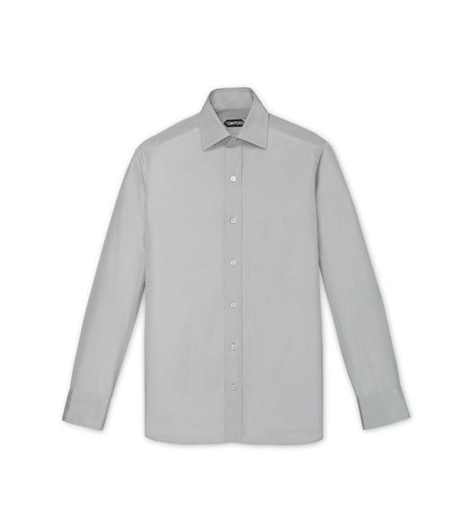 GREY POPLIN SLIM FIT SHIRT