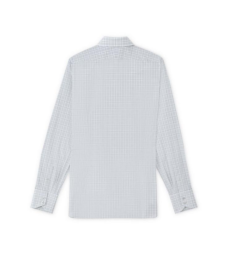 SUBTLE DARK OVERCHECK SPREAD COLLAR DAY SHIRT B fullsize