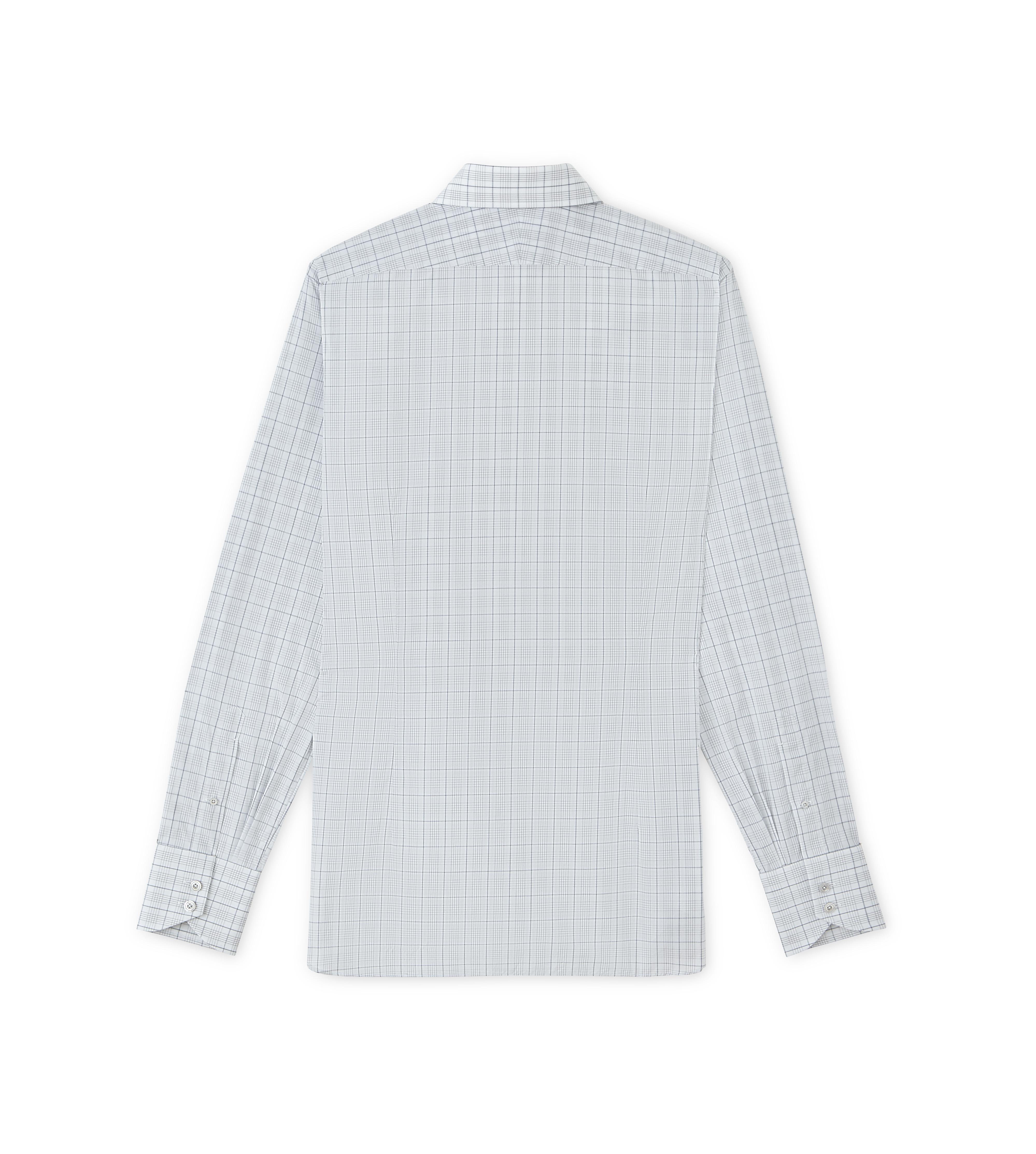 SUBTLE DARK OVERCHECK SPREAD COLLAR DAY SHIRT B thumbnail