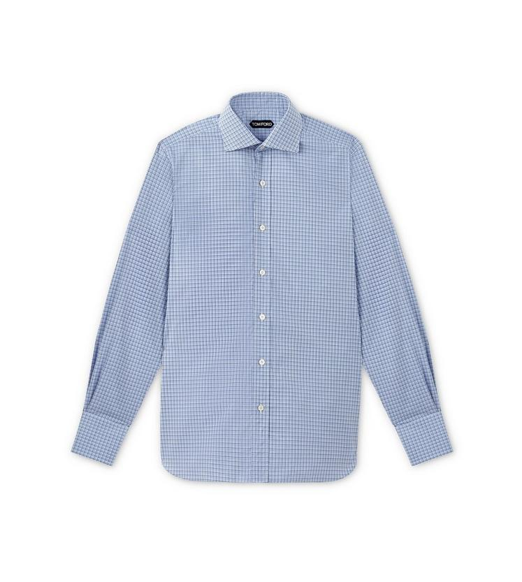 DEGRADE TATTERSALL SPREAD COLLAR DAY SHIRT A fullsize