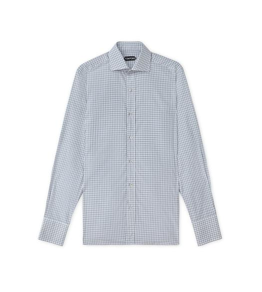 DEGRADE TATTERSALL SPREAD COLLAR DAY SHIRT