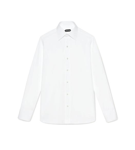 POPLIN SLIM FIT BARREL CUFF SHIRT