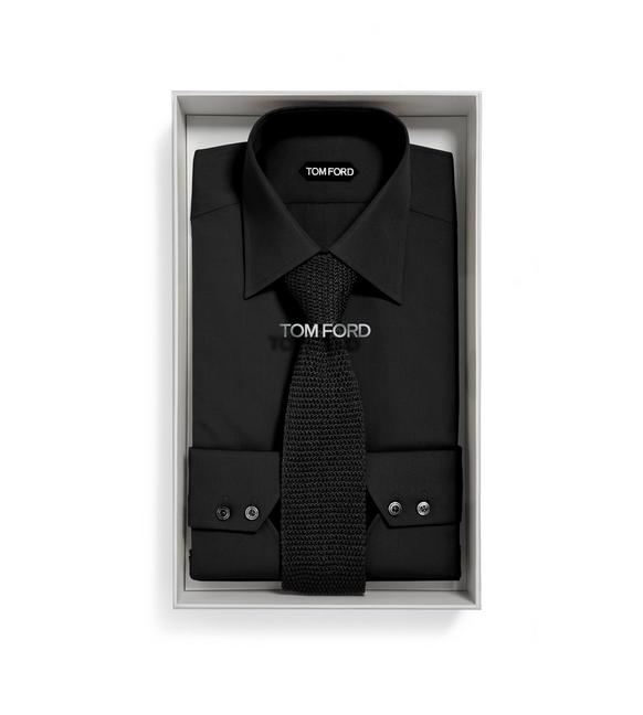 BLACK SHIRT + KNIT TIE BOX SET A fullsize