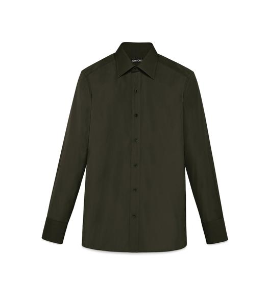 TONAL DARK GREEN SLIM FIT SHIRT