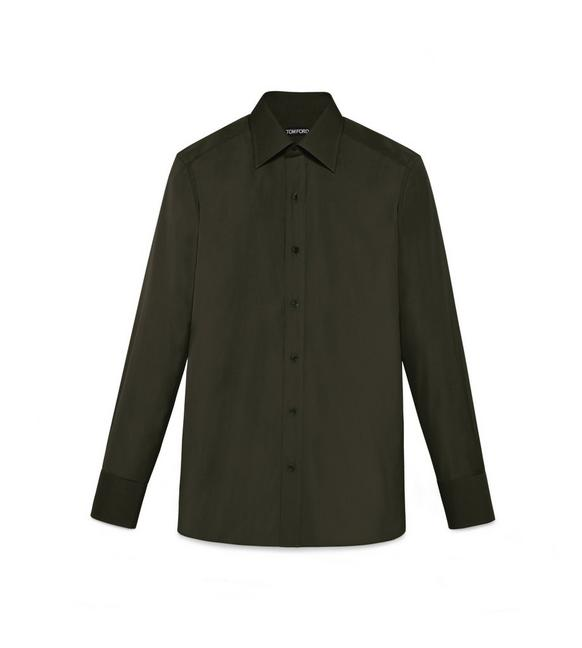 TONAL DARK GREEN SLIM FIT SHIRT A fullsize