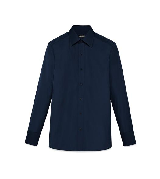TONAL NAVY SLIM FIT SHIRT