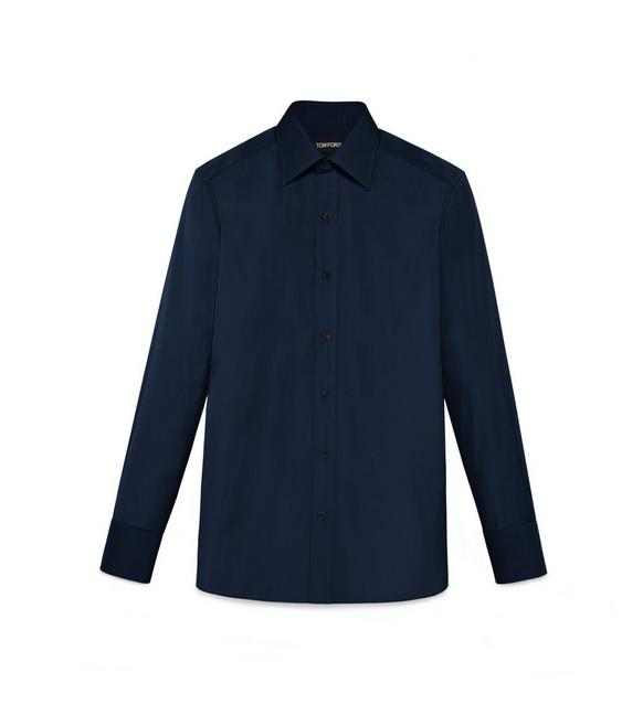 TONAL NAVY SLIM FIT SHIRT A fullsize