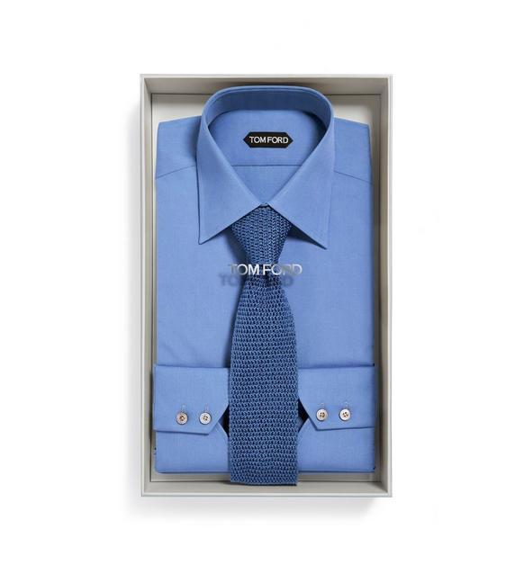 BLUE SHIRT + KNIT TIE BOX SET A fullsize