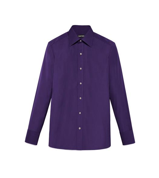 TONAL VIOLET SLIM FIT SHIRT