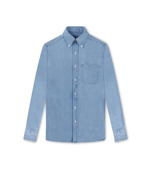 LIGHT WASH INDIGO SLIM FIT SHIRT