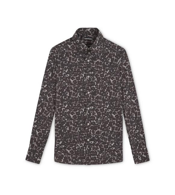 GREY LEOPARD SLIM FIT SHIRT A fullsize