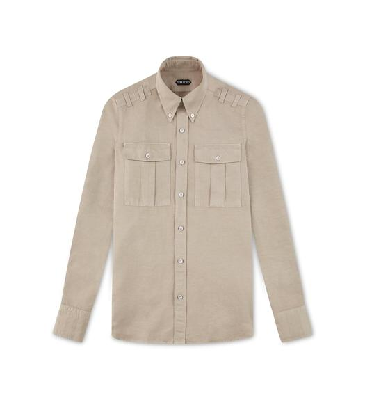 LINEN TWO POCKET SHIRT