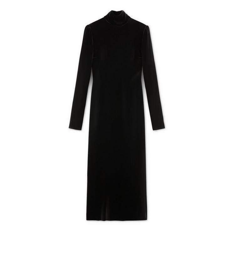 TURTLENECK LONG SLEEVE MIDI DRESS A fullsize