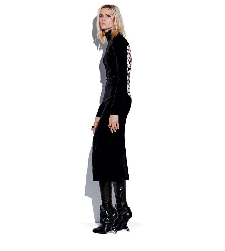 TURTLENECK LONG SLEEVE MIDI DRESS L fullsize