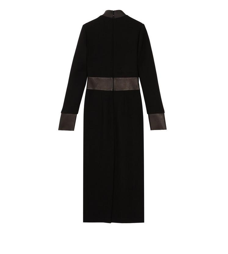 LONG SLEEVE DRESS WITH LEATHER INSERTS B fullsize