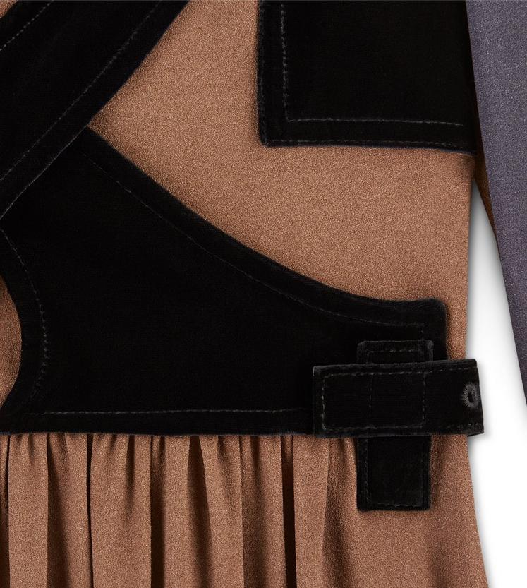 PRINTED SABLE DRESS WITH VELVET BAND DETAILS C fullsize