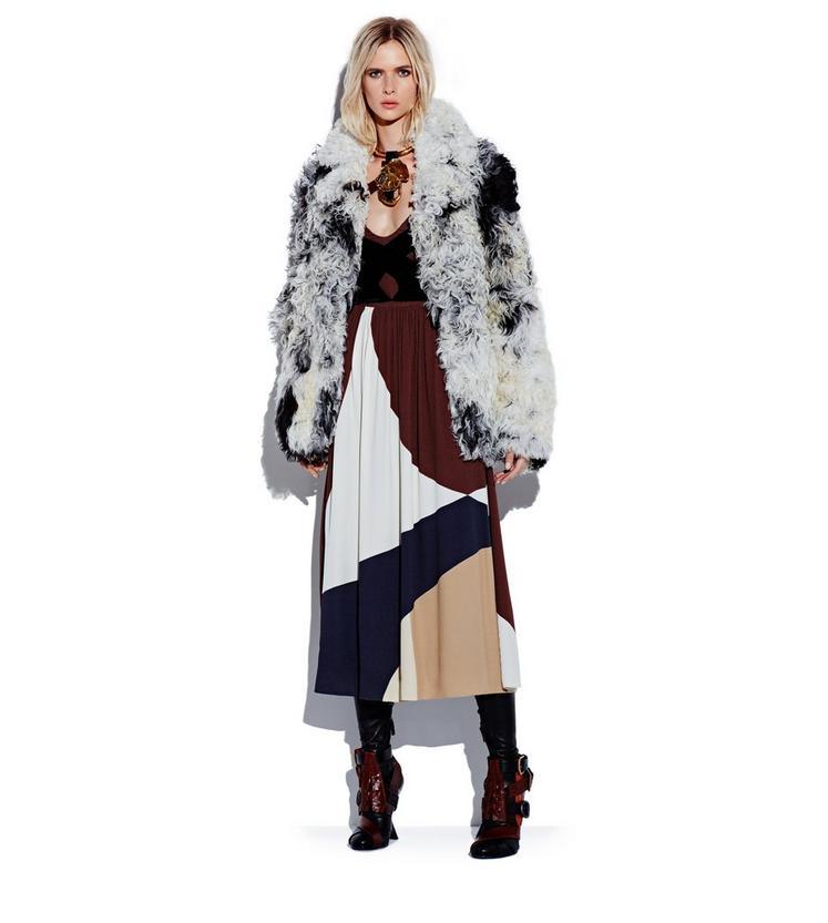 PRINTED SABLE DRESS WITH VELVET BAND DETAILS L fullsize