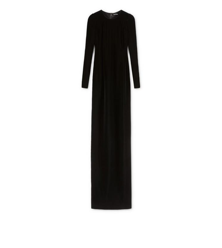 VELVET LONG SLEEVE GOWN A fullsize