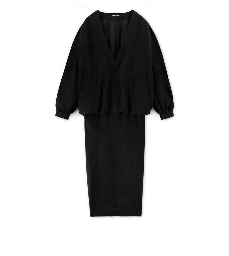 BLOUSANT DRESS WITH POCKET A fullsize