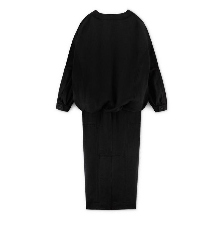 BLOUSANT DRESS WITH POCKET B fullsize