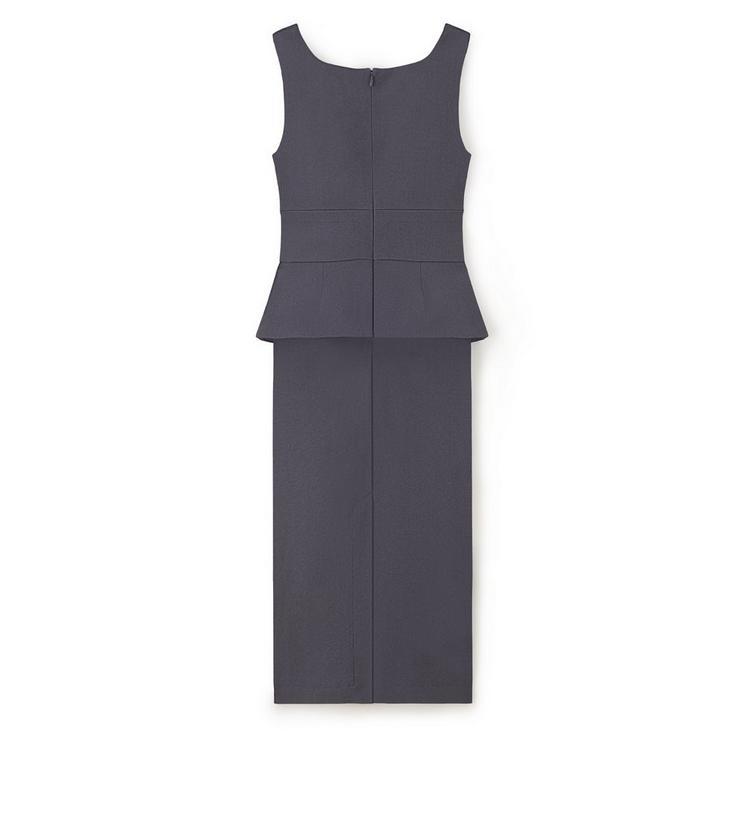 KNEE LENGTH SLEEVELESS DRESS WITH PEPLUM B fullsize