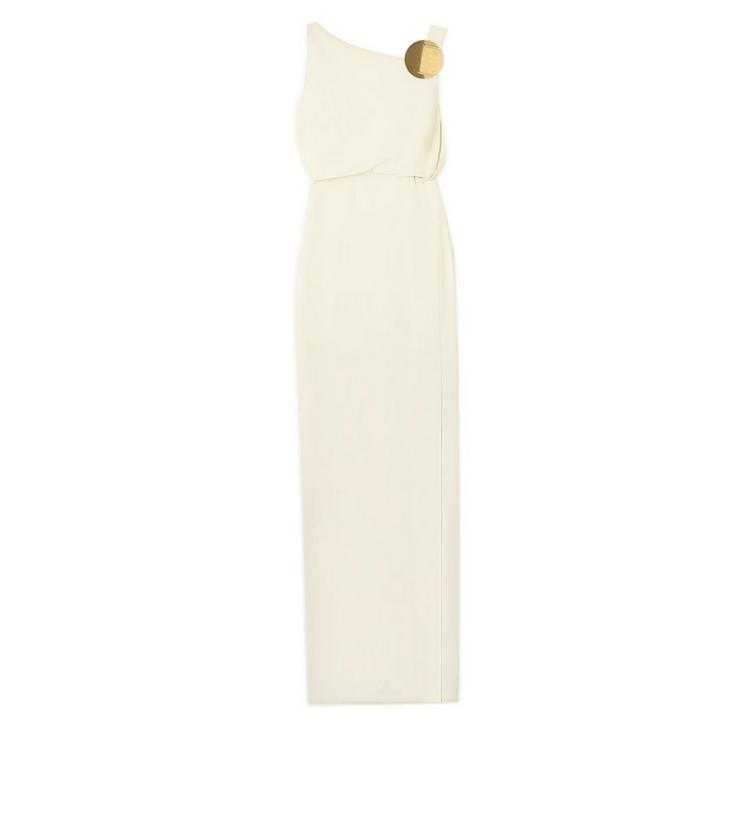 ASYMMETRIC SLEEVELESS GOWN WITH JEWELRY DETAIL A fullsize
