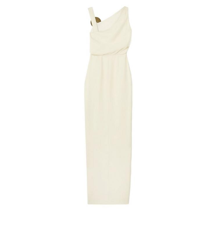 ASYMMETRIC SLEEVELESS GOWN WITH JEWELRY DETAIL B fullsize
