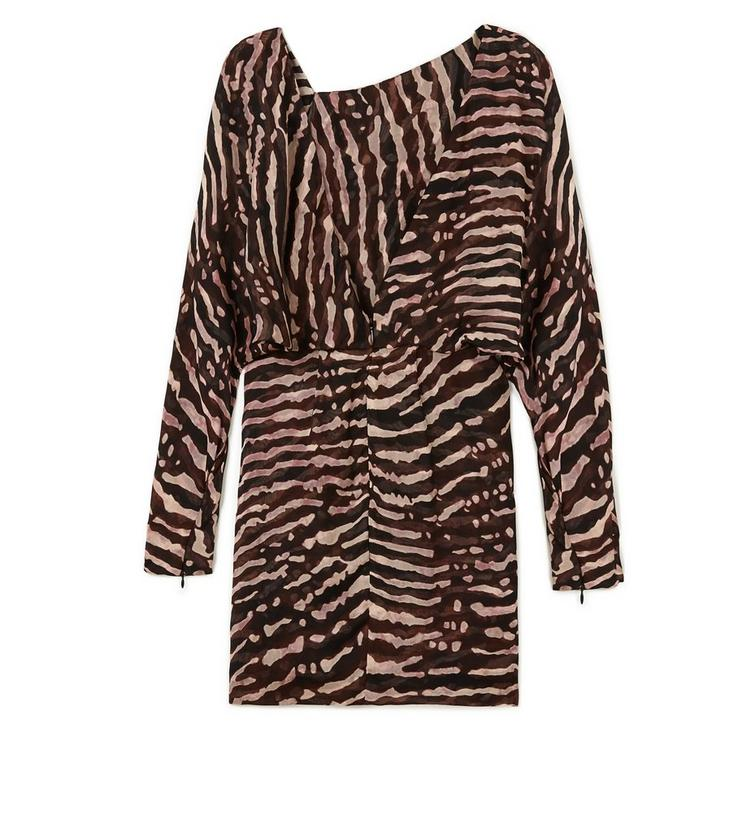 PRINTED MINI BLOUSON TOP DRESS B fullsize