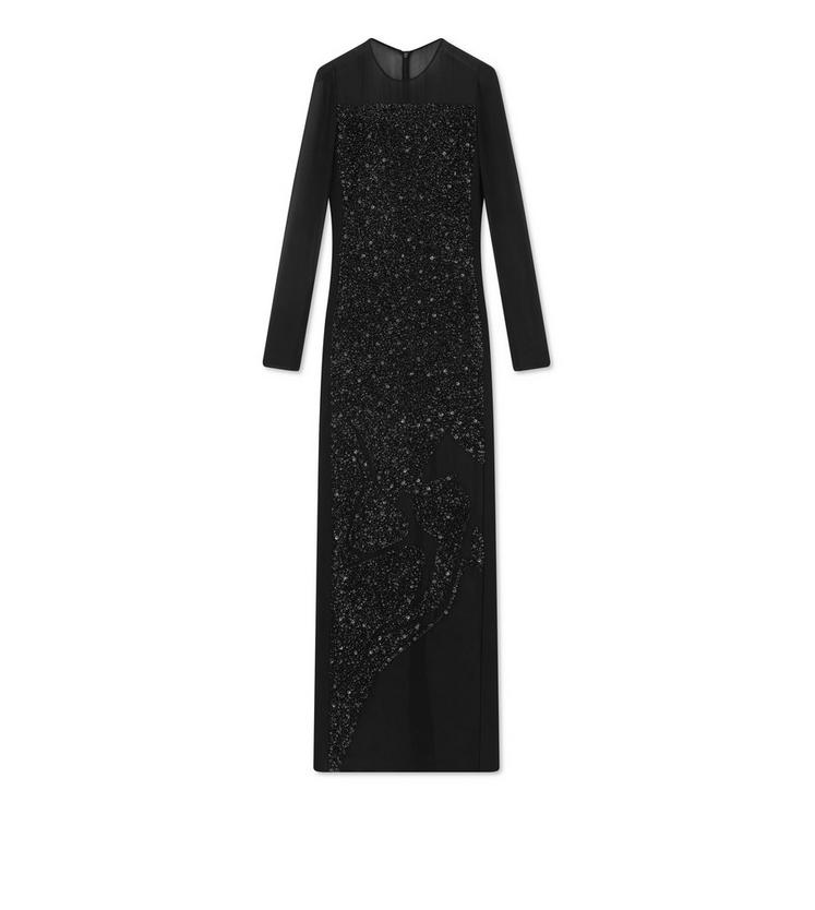 EMBROIDERED GOWN WITH SEQUIN ARTWORK A fullsize