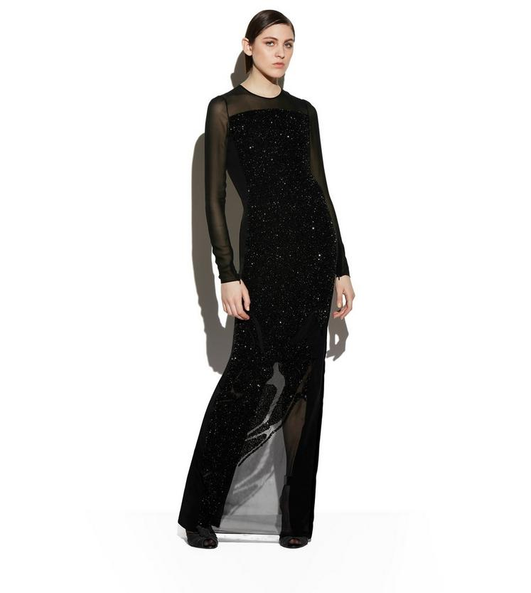 EMBROIDERED GOWN WITH SEQUIN ARTWORK B fullsize