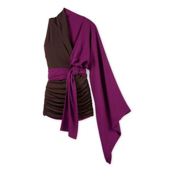 ASYMMETRIC KIMONO DOUBLE GEORGETTE DRESS A fullsize