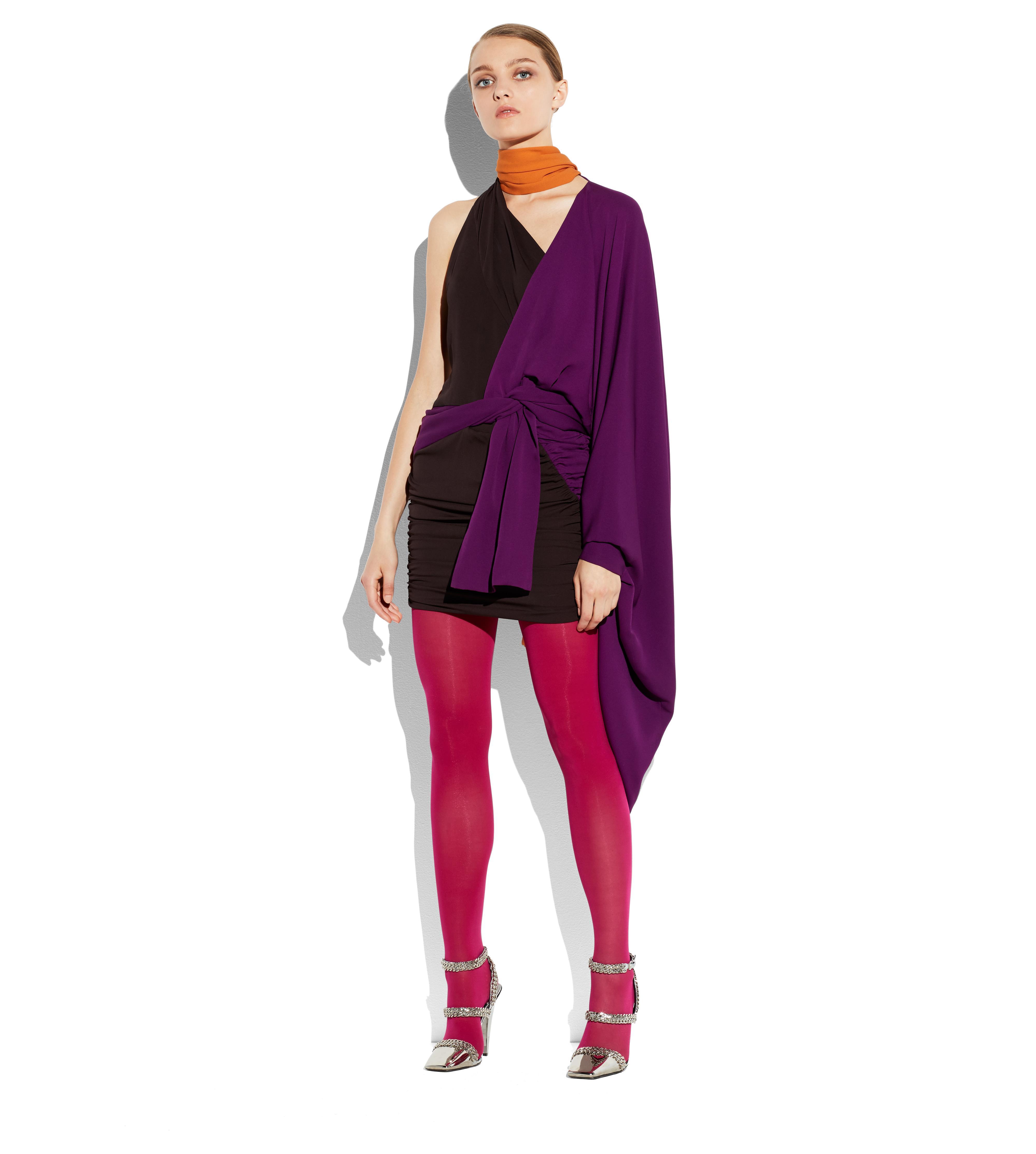 ASYMMETRIC KIMONO DOUBLE GEORGETTE DRESS B thumbnail