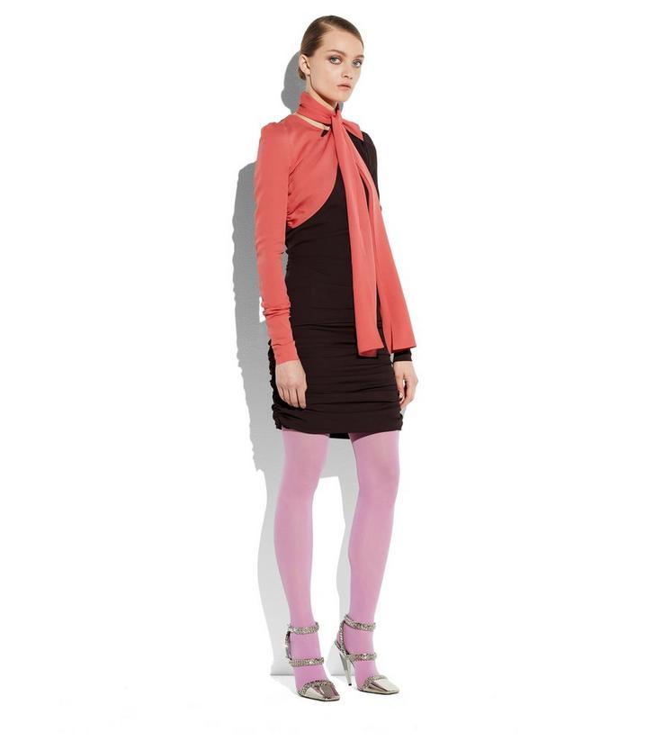 SCARF NECK DOUBLE GEORGETTE DRESS B fullsize