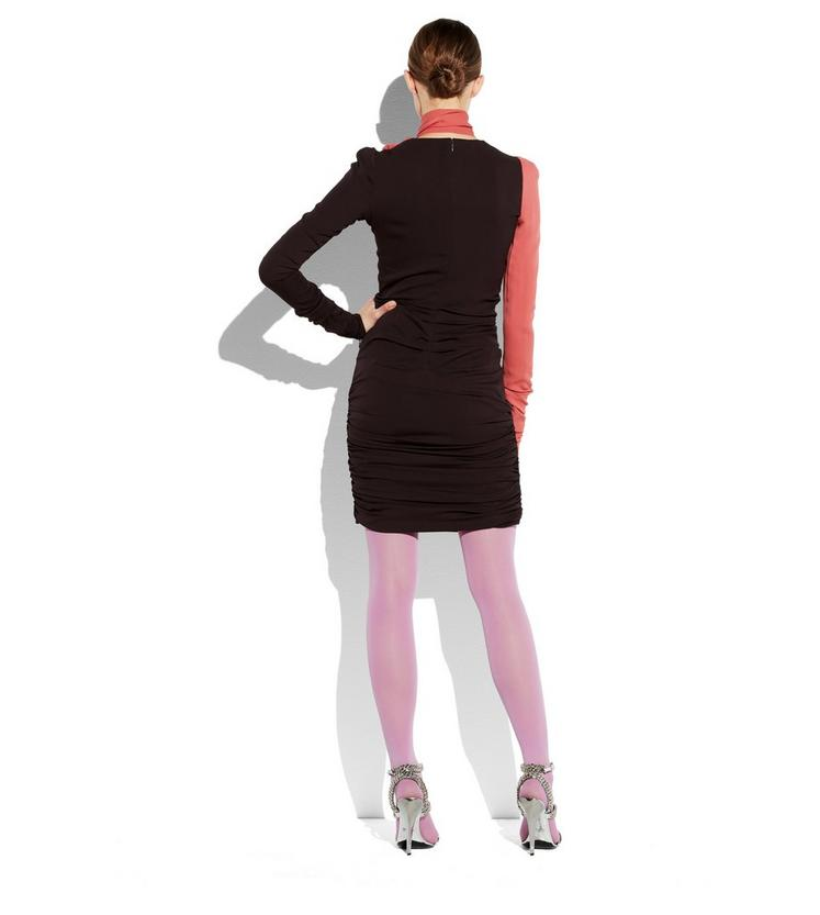 SCARF NECK DOUBLE GEORGETTE DRESS C fullsize