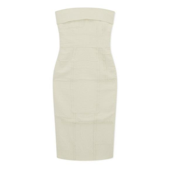RAW CUT BUSTIER DRESS A fullsize