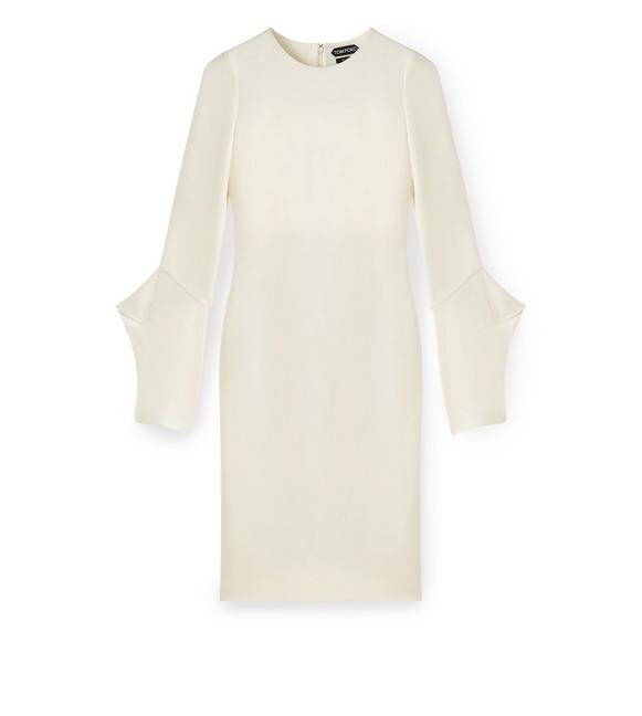 Flute Sleeve Dress by Tom Ford