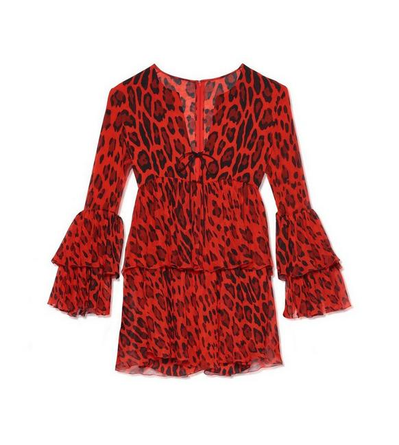 RUFFLED JAGUAR MINI DRESS A fullsize