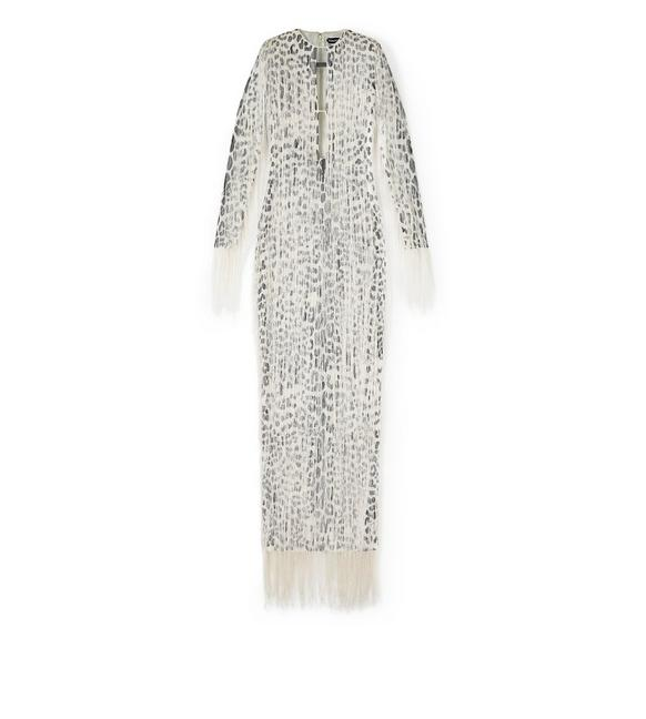 LEOPARD FRINGE EMBROIDERY GOWN A fullsize