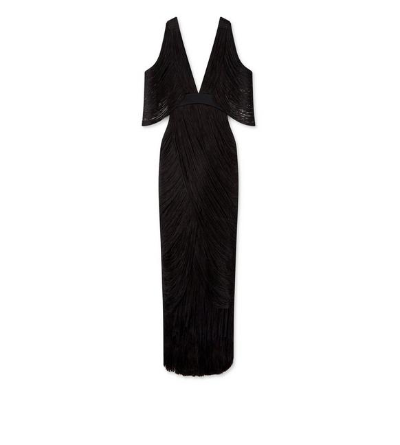 RAW CUT FRINGE GOWN A fullsize