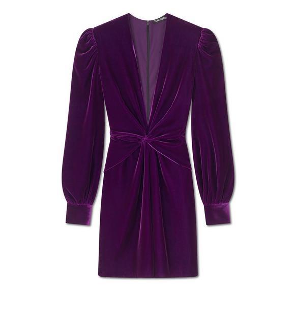 LIQUID VELVET TWISTED FRONT MINI DRESS A fullsize