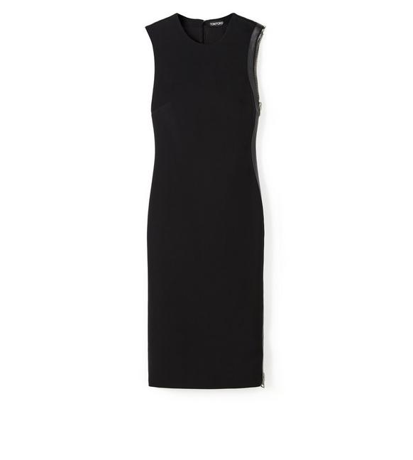 COMPACT JERSEY SIDE-ZIP DRESS A fullsize