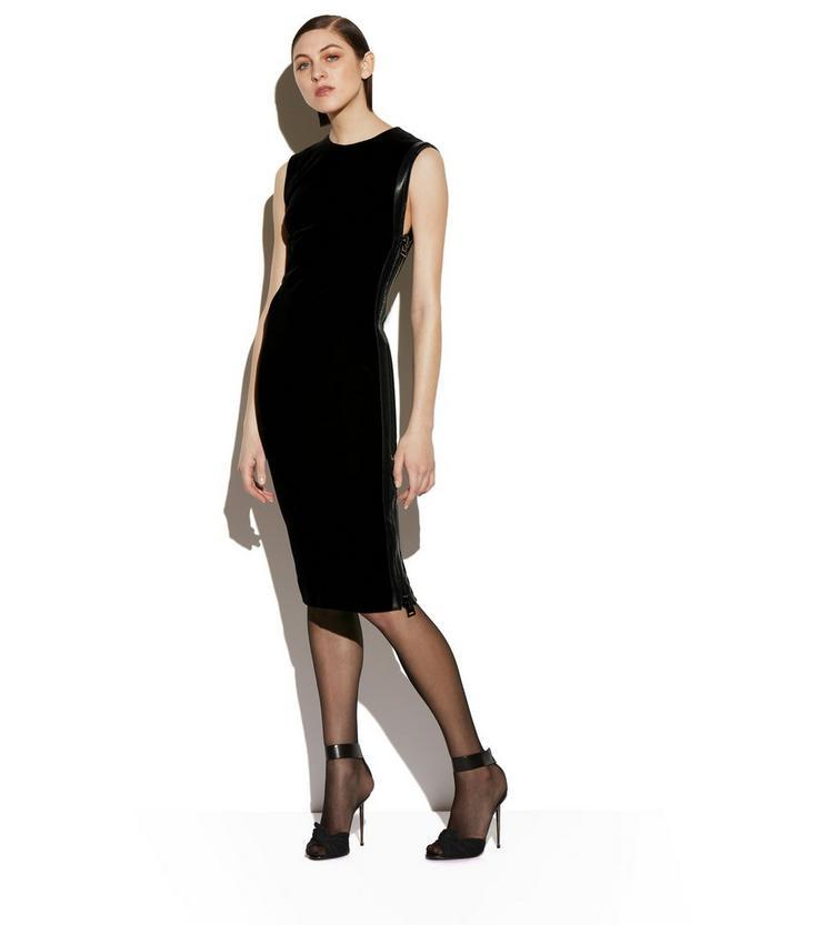 VELVET SIDE-ZIP DRESS B fullsize