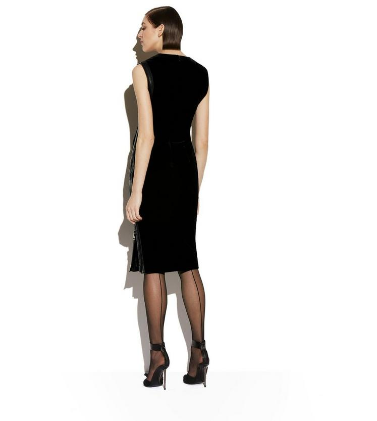 VELVET SIDE-ZIP DRESS C fullsize