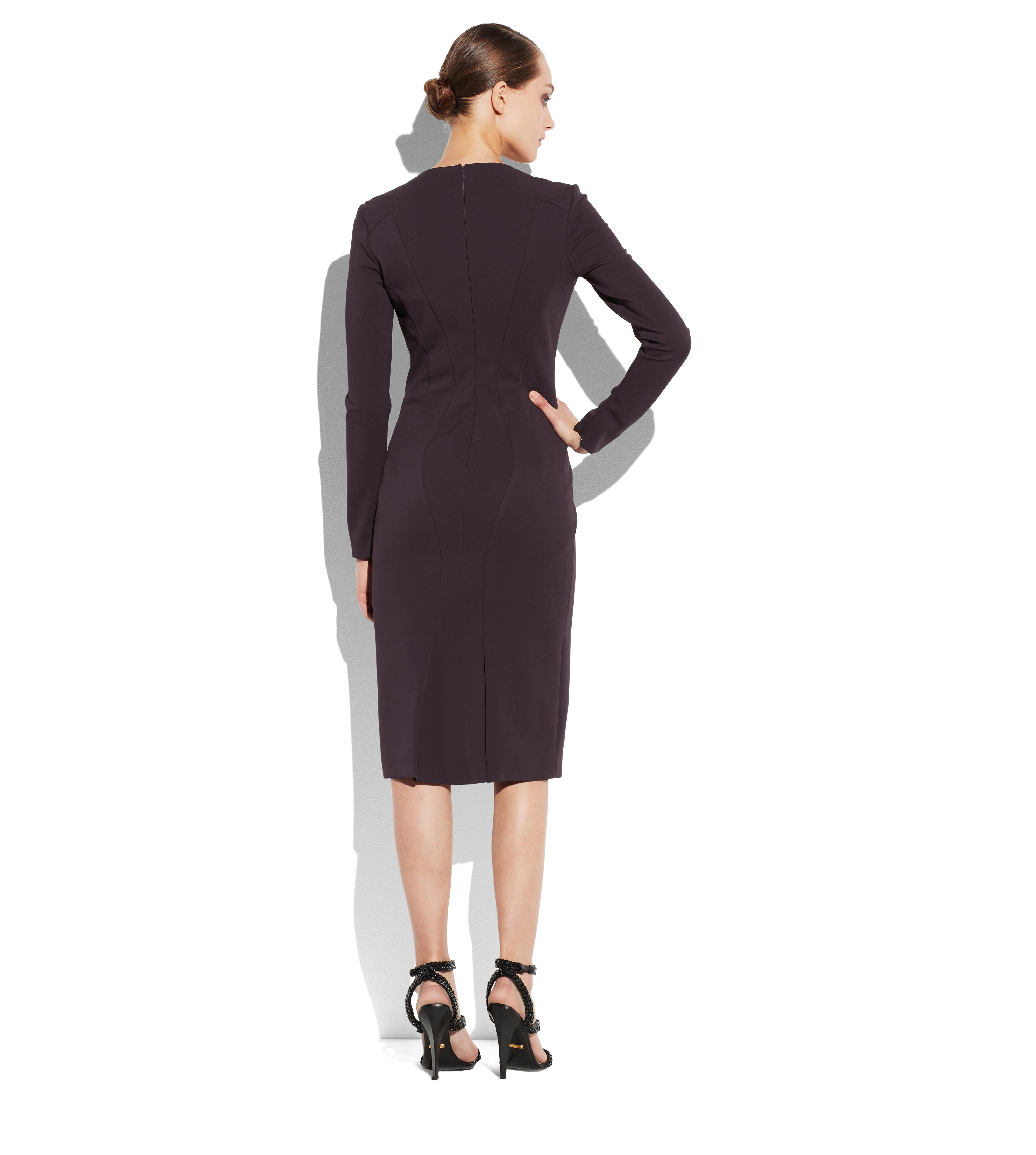 LONG SLEEVE STRUCTURED SEAM DRESS C thumbnail